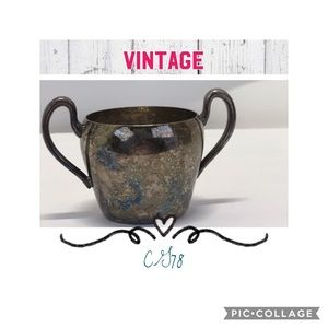 Vintage Kitchen - 🌻Vintage 1960's silver over copper sugar bowl🌻